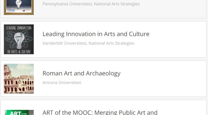 Kültür-sanat alanında online kurslar Coursera'da