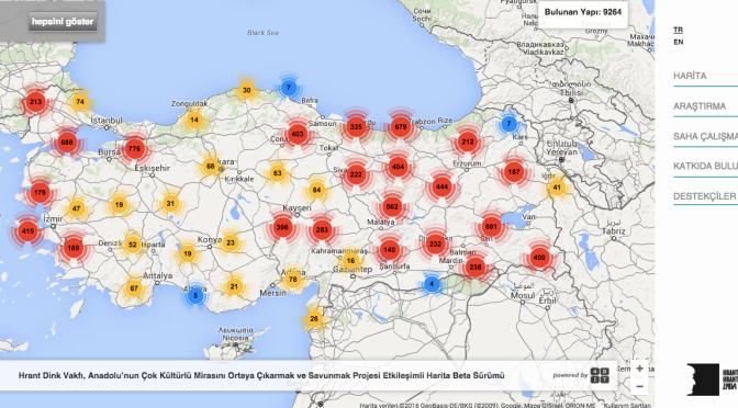 Türkiye Kültür Varlıkları haritası artık online