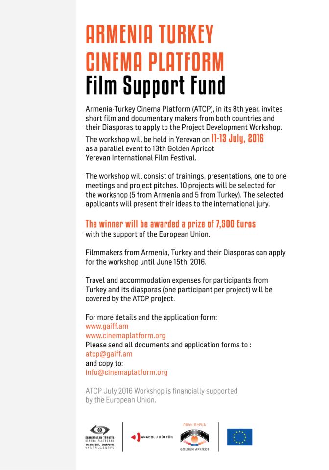 Ermenistan-Türkiye Sinema Platformu başvuruları bekliyor