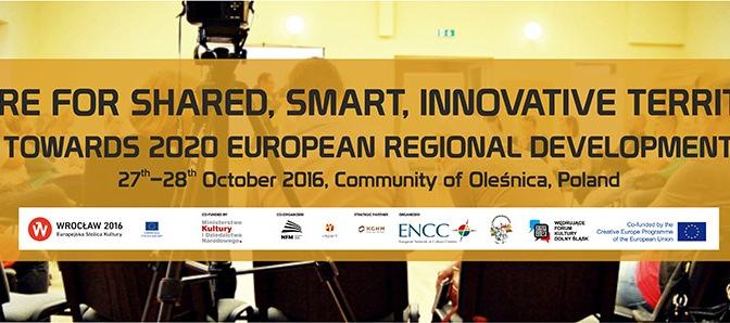 """ENCC """"Paylaşılan, Akıllı ve Yenilikçi Bölgeler için Kültür"""" Konferansı için başvurular başladı"""