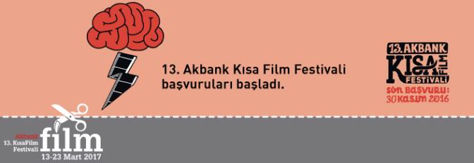 13. Akbank Kısa Film Festivali başvuruları başladı