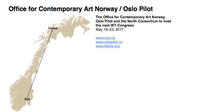 IKT 2017, Norveç'te düzenlenecek