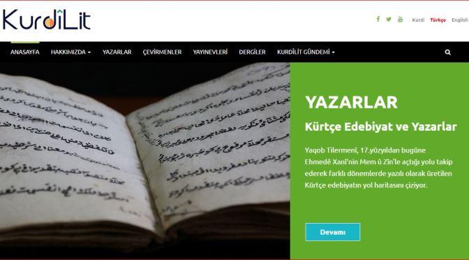 KurdîLit: Türkiye'de Kürtçe Edebiyat ve Yayıncılık Ağı web sitesi açıldı
