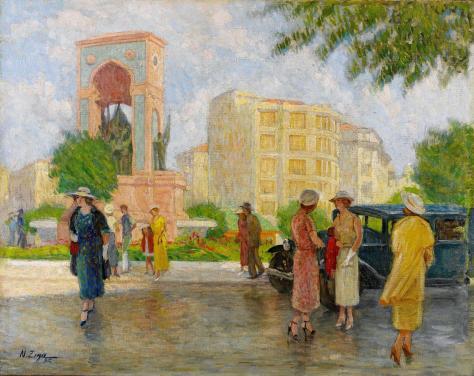 taksim-meydani-1935-nazmi-ziya-gu%cc%88ran