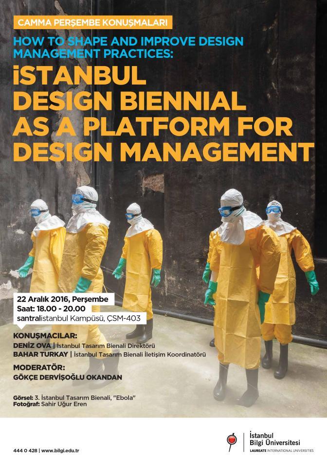 CAMMA Perşembe Konuşmaları'nın yeni konuğu İstanbul Tasarım Bienali