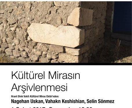"""""""Arşivden Sonra?"""" konuşmaları Kültürel Mirasın Arşivlenmesi ile devam ediyor"""
