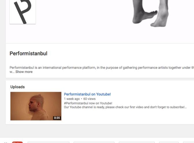 Performistanbul'un YouTube kanalı açıldı