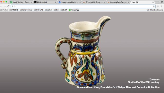 Pera Müzesi Google Chrome eklentisi yayında