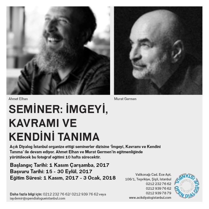 Açık Diyalog İstanbul'dan yeni bir seminer dizisi: İmgeyi, Kavramı ve Kendini Tanıma