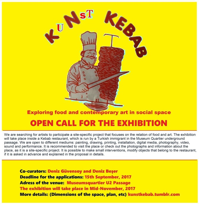 Kunst Kebab projesinden açık çağrı