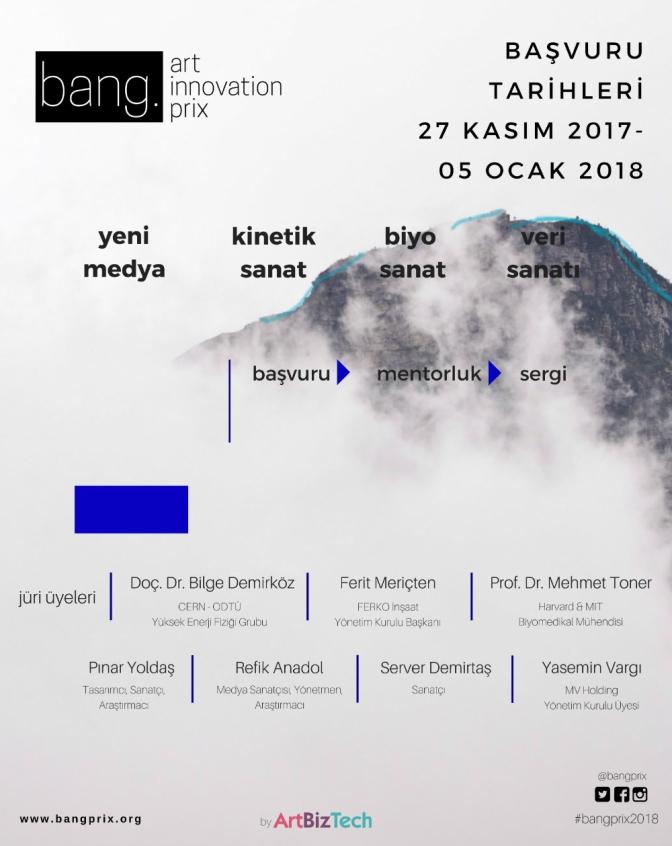 bang. Art Innovation Prix 2018 başvuruları başladı