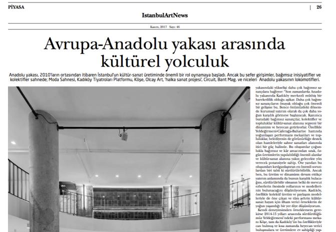 Avrupa-Anadolu yakası arasında kültürel yolculuk