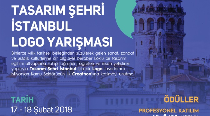 Creathon City İstanbul: UNESCO Tasarım Şehri İstanbul'un logosunu tasarlamaya çağırıyor