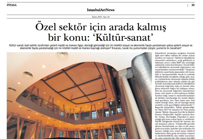 Özel sektör için arada kalmış bir konu: 'Kültür-sanat'
