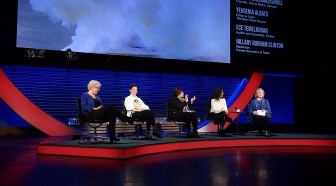 Ece Temelkuran Women in the World Summit'te konuştu