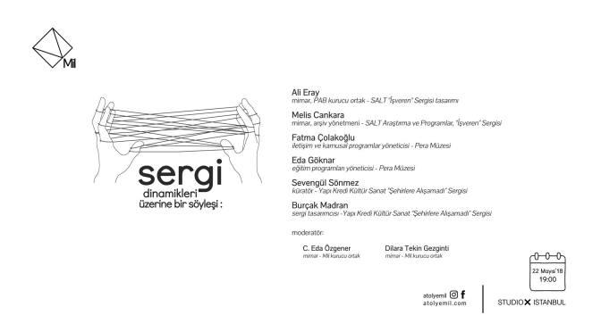 Sergi Dinamikleri konuşması Studio-X Istanbul'da