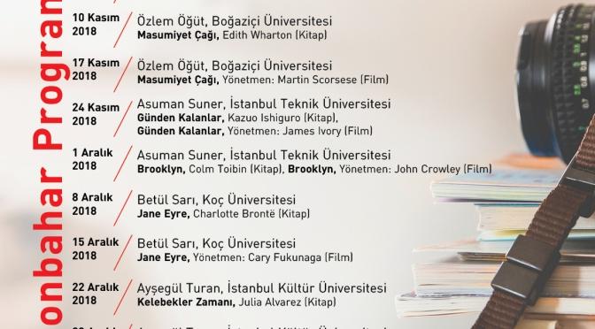 """Toplumsal Cinsiyet ve Edebiyat Söyleşileri 2018'de """"Sinema ve Edebiyat"""" ile devam ediyor"""