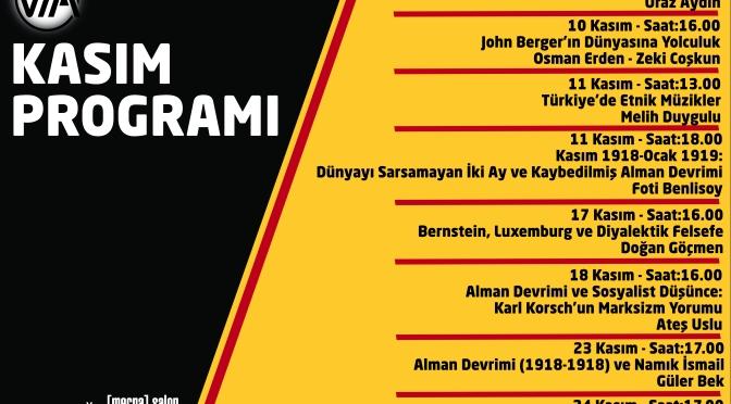 Via Kültür'de Kasım ayı
