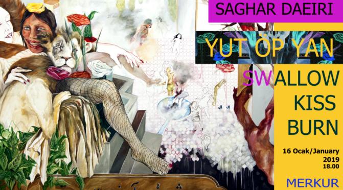 Saghar Daeiri'nin Türkiye'deki ilk kişisel sergisi Merkür Galeri'de