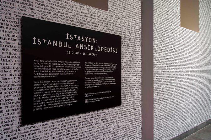 İstasyon: İstanbul Ansiklopedisi  SALT Beyoğlu'nda incelemeye açılıyor