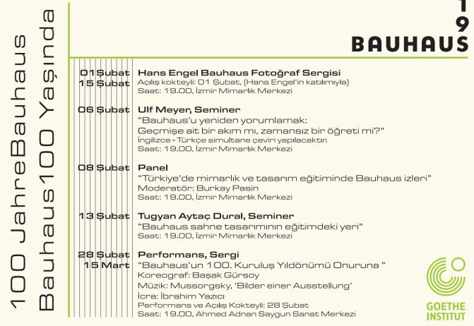 Bauhaus'un 100. yaşı İzmir'de kutlanıyor