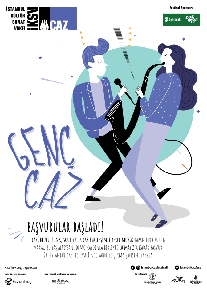 26. İstanbul Caz Festivali, genç caz müzisyenlerini festivale katılmaya çağırıyor