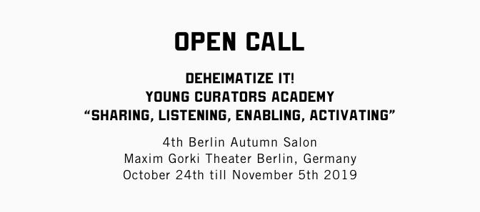 Young Curators Academy in Berlin için açık çağrı