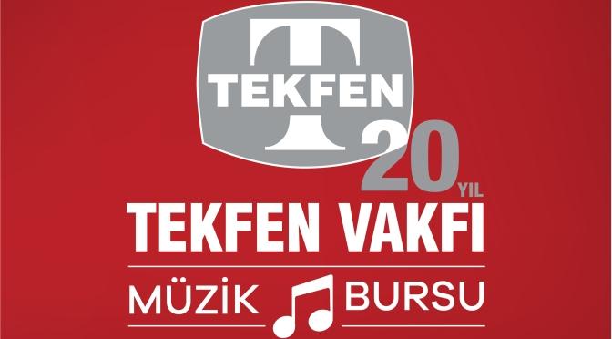 Tekfen Vakfı kuruluşunun 20. yılında Müzik Bursu programını başlatıyor