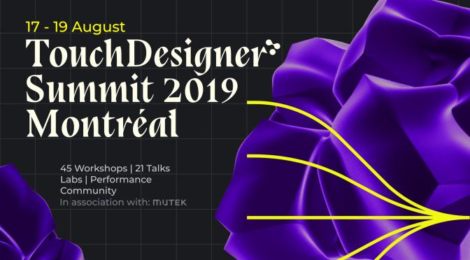 bang. Prix TouchDesigner Summit 2019'da