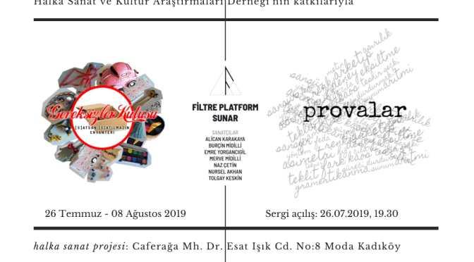 """halka sanat projesi'nde iki yeni sergi: """"Gereksizler Kutusu: [S]atsan [S]atılmazın Envanteri"""" ve """"Provalar"""""""