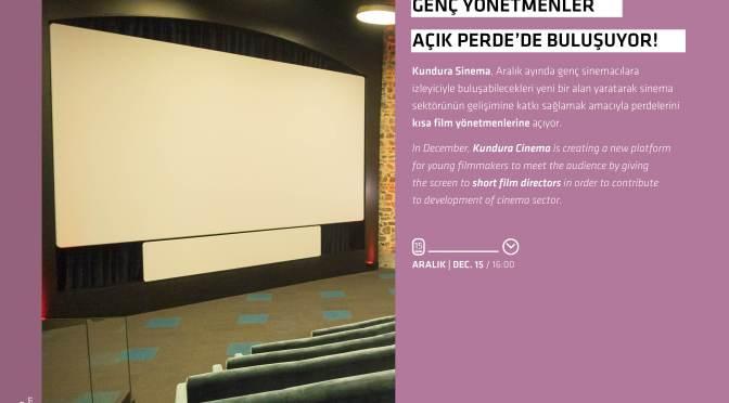 """Beykoz Kundura'dan kısa filmciler için yeni bir platform: """"Kundura Sinema Açık Perde"""""""