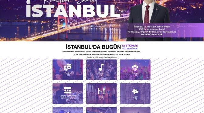 İstanbul Büyükşehir Belediyesi'nden tüm etkinlikleri bir araya getiren platform