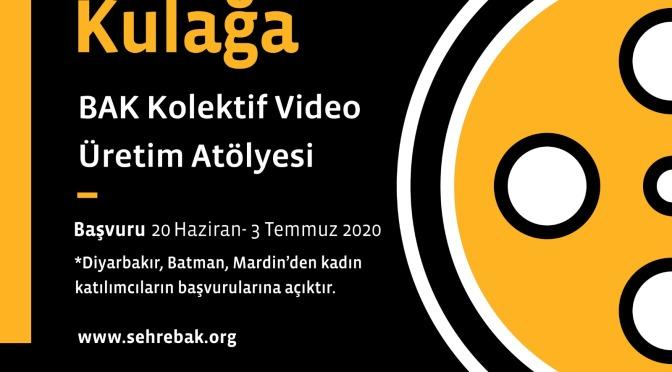 BAK 2020 Kolektif Video Üretim Atölyesi için başvurular başladı