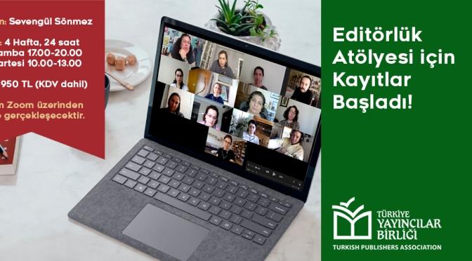 Türkiye Yayıncılar Birliği'nden Çevrimiçi Editörlük Atölyesi