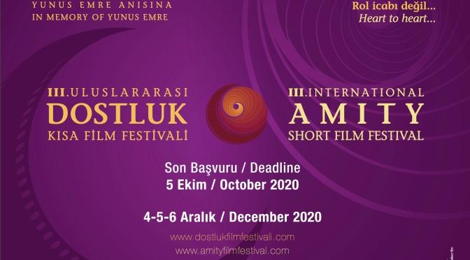 3. Uluslararası Dostluk Kısa Film Festivali başvuruları başladı