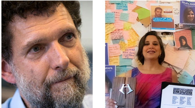 2020 Uluslararası Hrant Dink Ödülü Türkiye'den Osman Kavala ve Mısır'dan Mozn Hassan'ın